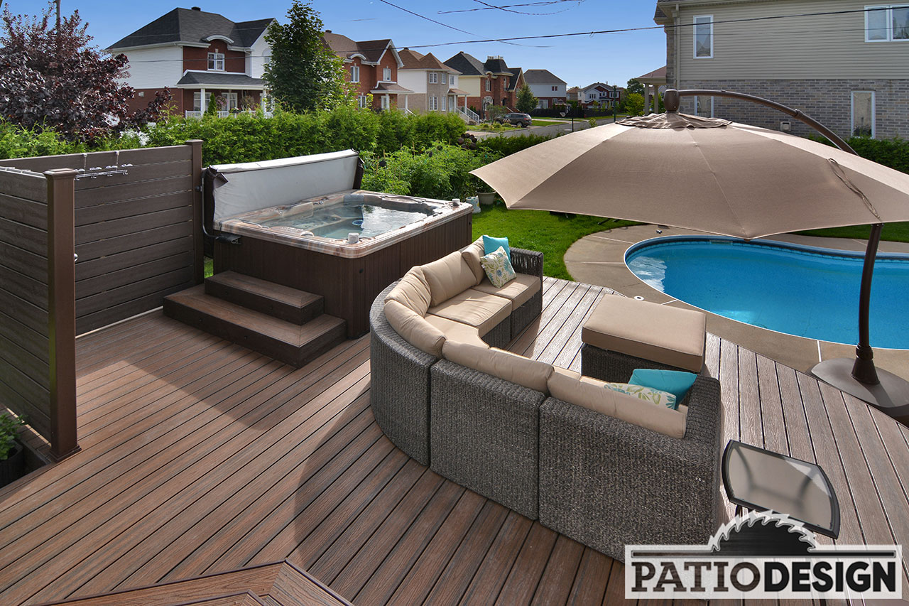 Patios avec piscine creus e les r alisations de patio for Piscine california 1