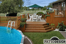 Patio avec piscine hors-terre par Patio Design inc.