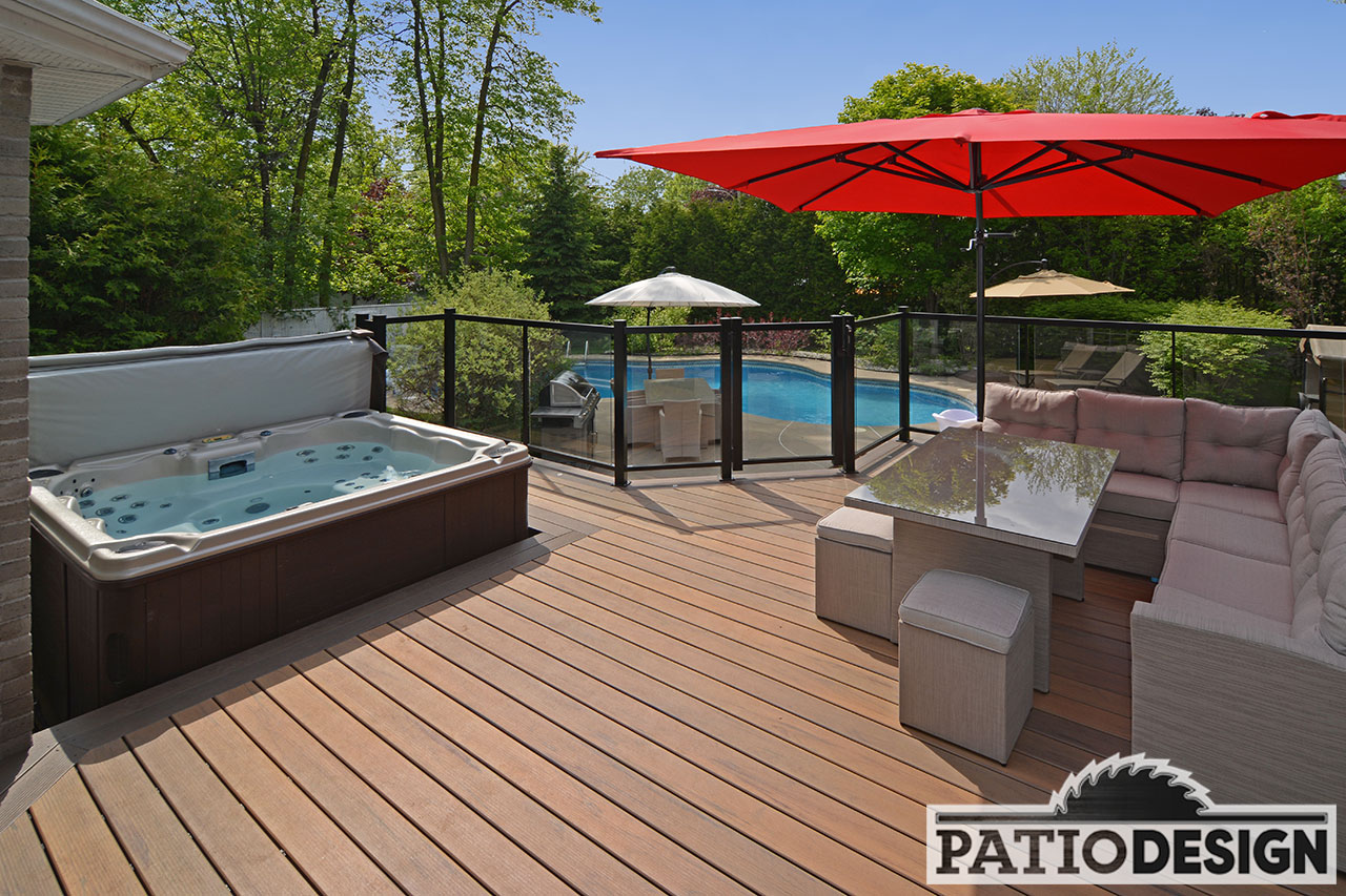 Conception fabrication et installation de patio autour d for Design patio exterieur