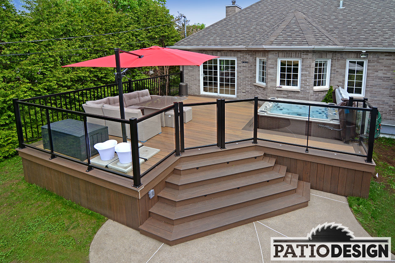Conception fabrication et installation de patio autour d for Modele patio exterieur