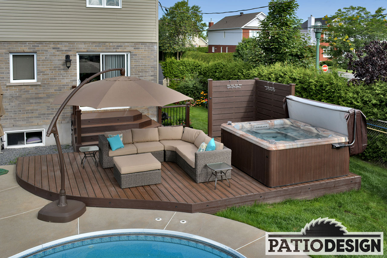 Conception fabrication et installation de terrasses en for Plan pour patio de piscine