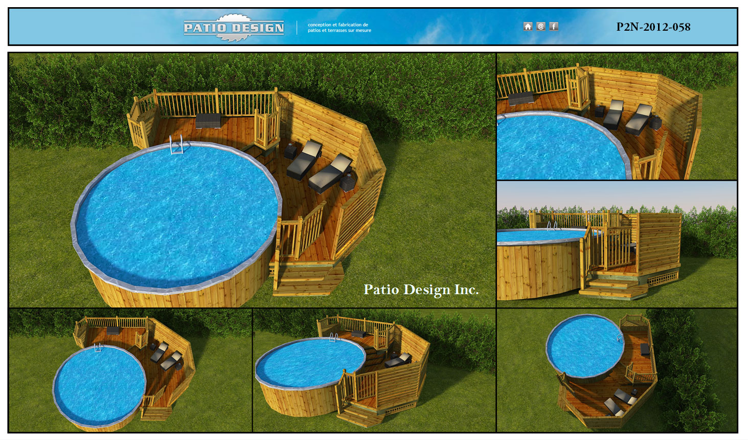 Plan 3d patio design inc for Plan pour patio de piscine