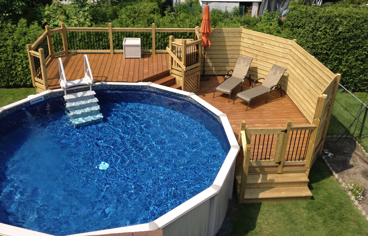 Best plan deck piscine ideas for Plan pour patio de piscine