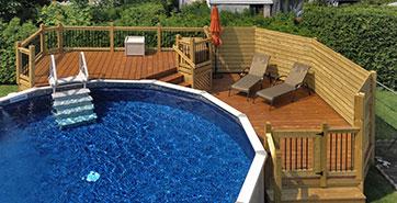 Patio piscine plan des id es pour le style de maison for Plan pour deck de piscine