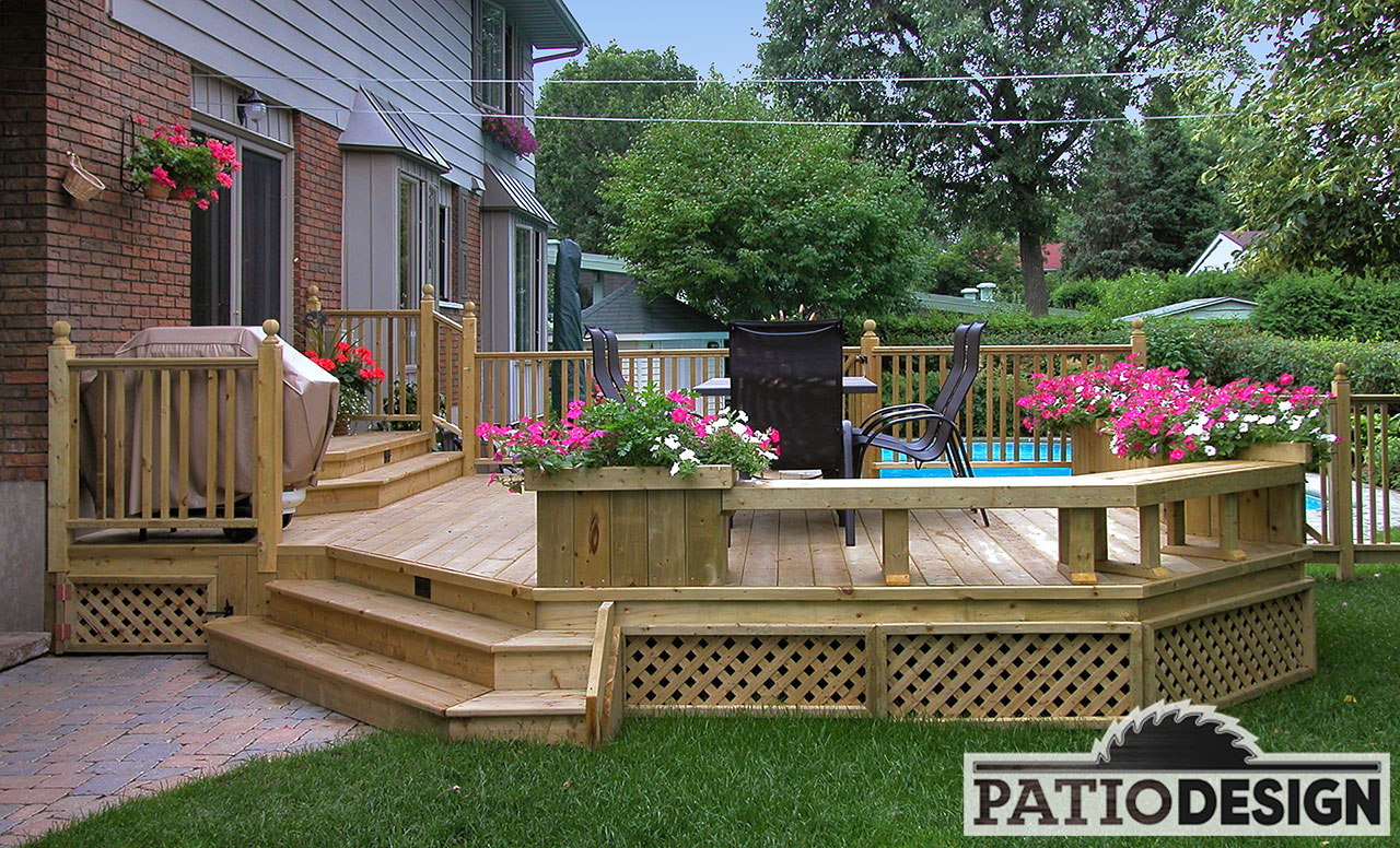 Patio design construction design de patios pour une for Design patio exterieur