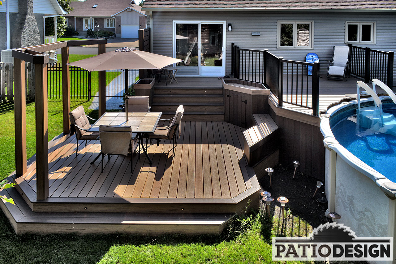 Patio design construction design de patios et for Patio design piscine hors terre