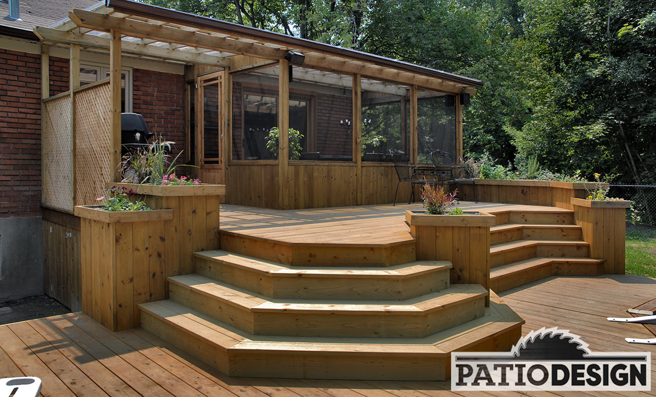 Patio design construction design de v randas solarium for Plan pour patio exterieur gratuit