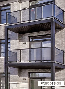 Balcons et devantures par Patio Design inc.