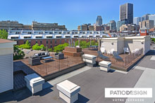 Patio sur Toits (Terrasse) par Patio Design inc.