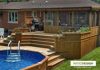 Patio Design Construction Design De Patios En Bois Traite
