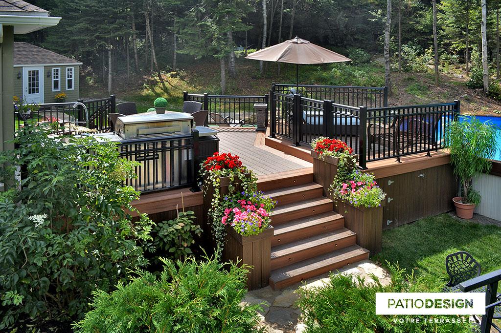 Patio Design Patios Avec Piscine Hors Terre Les