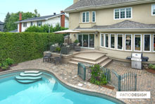 Patio with inground pool by Patio Design inc.