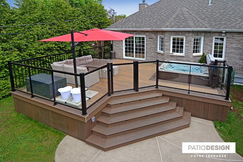 Patio Design Construction Design Of Timbertech Terraces And Patios