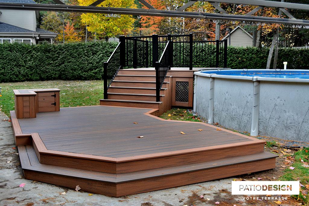 Terrasse En Trex Par Patio Design Inc.